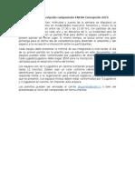 Planilla de Inscripción Campeonato ENEAA Concepción 2015