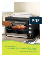 Food Network Convection Oven User's Manual