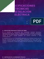 Especificaciones Técnicas - Instalaciones Electricas