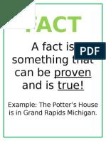 fact vs  opinion sheets