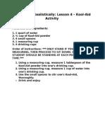 lesson 4 koolaid activity
