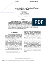 Performance Analysis and Tactics of Fighter Aircraft From WW1