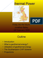 Geothermal Power - A Way Into the Future
