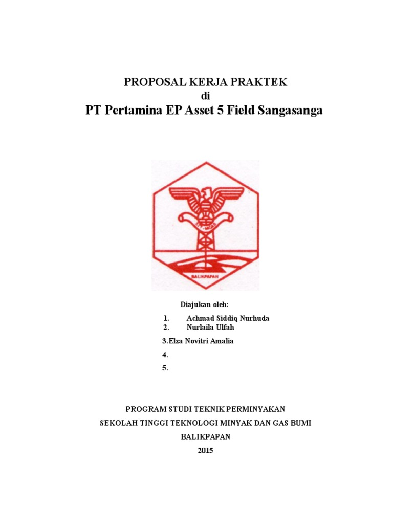 Proposal KP to Pertamina Sanga-Sanga ELZA