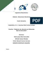 Ingeniería Mecatrónica Práctica Tipos de Bancadas Vibraciones Mecanicas