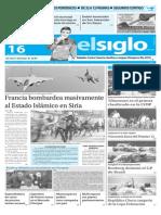 Edicion Impresa El Siglo 16-11-2015