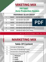 Marketing Mix (Penternak Sejati) PRT3007 Dr. Martini