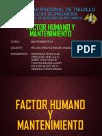 Factor Humano y Mantenimiento