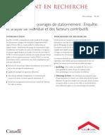 Ation Des Ouvrages de Stationnement - Enquête Et Analyse de l'Étendue Et Des Facteurs Contributifs