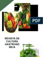Revista de Cultura Gastronómica