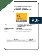 Cartaboneo de Pasos y Uso de Nivel Para Mediciones Horizontales