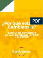 Por Qué Votar Por Cambiemos - FEPUC