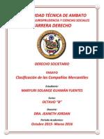 Clasificacion Decompañias Ensayo