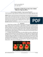 Optimized Implementation of Edge Preserving Color Guided Filter for Video on FPGA