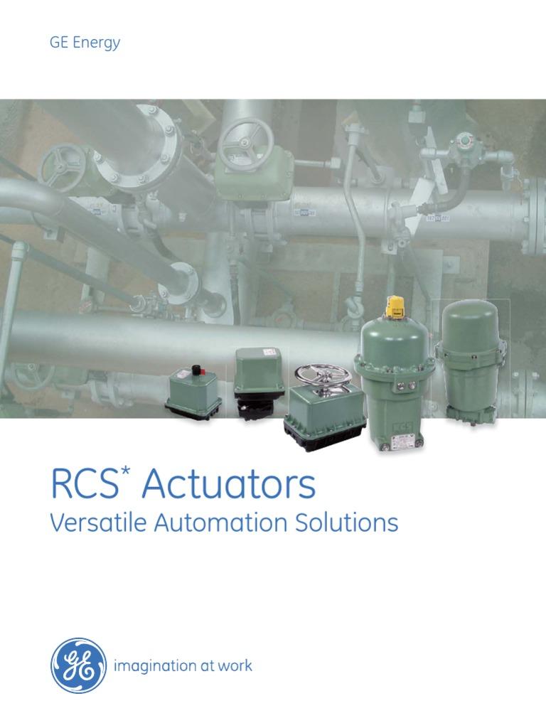 Rcs Actuators Brochure Relay Switch