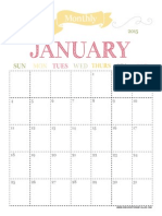 2015 Monthly Planner Jan