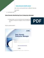 Data Domain Health Check