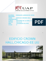 Trabajo n10 Proyecto Edificio Crown Hall Arq.van Der Rohe Tema Minimalismo