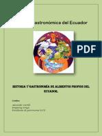 Historia y gastronomía de alimentos propios del Ecuador