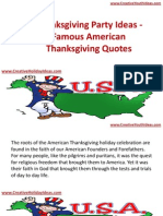 Thanksgiving Party Ideas - Famous American Thanksgiving Quotes