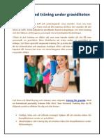 Fördelar med träning under graviditeten