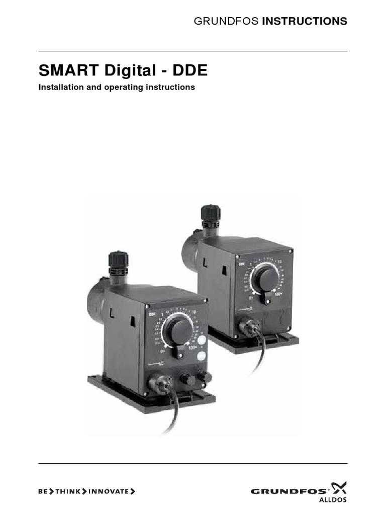 Grundfos Alldos Dde Smart O M Ac Power Plugs And Sockets Valve Wiring Instructions