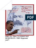 75  Democrat Communist Gave You High TAXES & ObamaCare