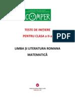 Clasa a II a Modele Subiecte Comper Comunicare Si Matematica