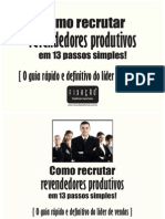 E Book Como Recrutar Revendedores Produtivos Em 13 Passos Simples