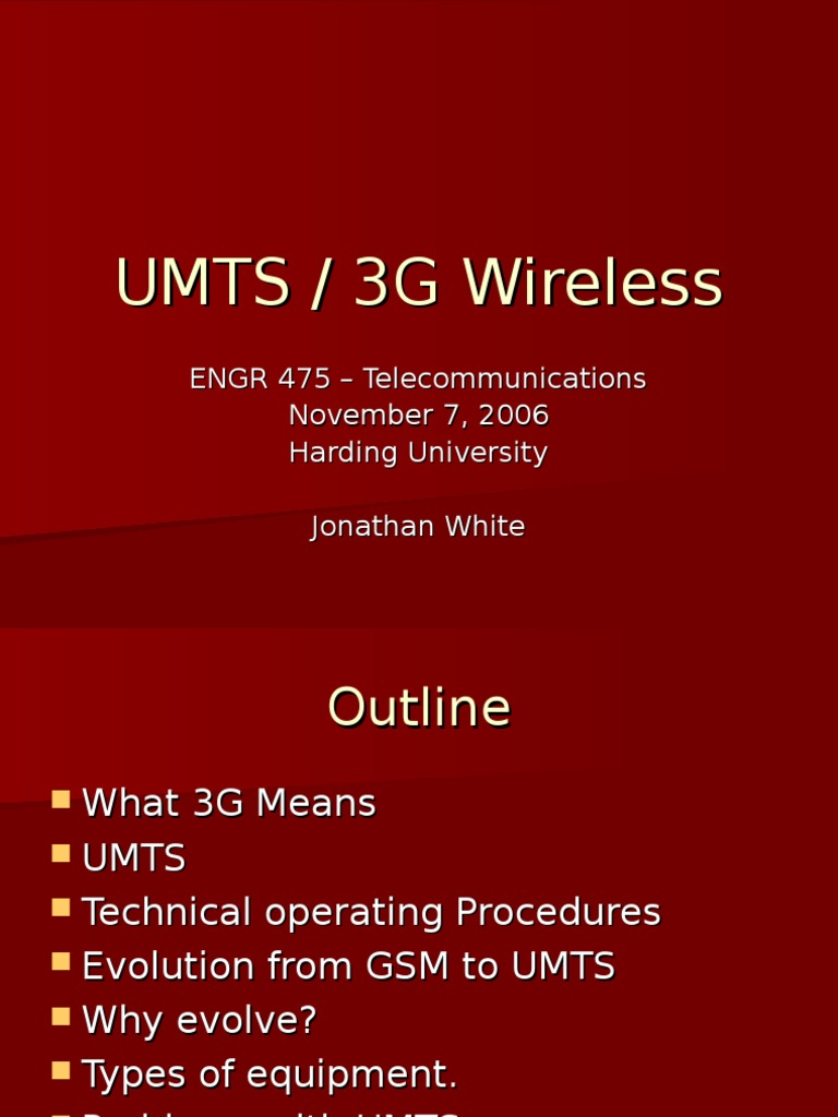 3g Lecture | 3 G | General Packet Radio Service