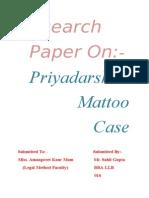 Priyadarshini Mattoo Case Research Paper..
