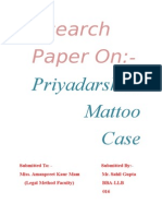 Priyadarshini Mattoo Case Research Paper..