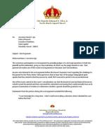 151113 King's Letter to Governor Ige TMT Confrontation