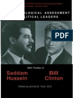 The Psychological Assessment of Political Leaders With Profiles of Saddam Hussein and Bill Clinton - Jerrold M. Post