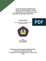 Proposal Sistem Pakar Troubleshooting Software