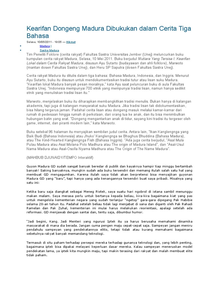 Cerita Lucu Orang Madura Dewalucu212