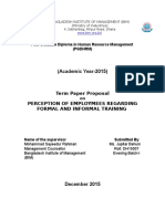 Proposal on Perception of Employees Regarding Formal and Informal Training-template