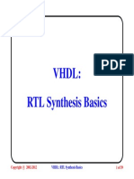 VHDL5 Rtl Synthesis Basics