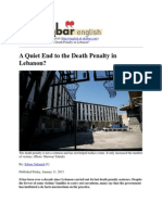 A Quiet End to the Death Penalty in Lebanon