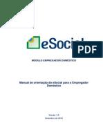 Manual ESocial Empregador Domestico 1 Versao