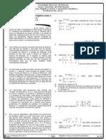 Lista de Exercícios 4 (Álgebra Linear)
