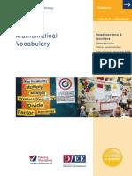 Maths Vocabulary