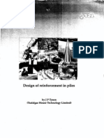 Design of Reinforecment in Piles by J.P.tyson
