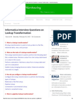 Informatica Interview Questions on Lookup Transformation ~ Data Warehousing