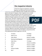 Analysis of the Music Magazine Industry