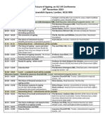 ILC-UK Future of Ageing Conference 2015 - AGENDA