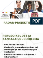 Radar Presentation in Finnish