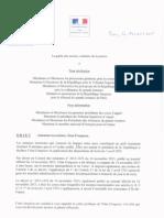 """Circulaire Garde Des Sceaux """"Etat d'urgence"""""""