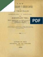 Ley Organica Tribunales 1875