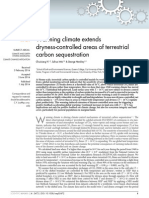 Warming Climate Extends Dryness-controlled Areas of Terrestrial Carbon Sequestration